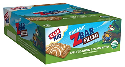 Clif Kid ZBAR Filled - Organic Energy Bar - Apple Almond Butter (1.06 Ounce Snack Bar, 12 Count) (Packaging May Vary) ()