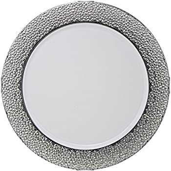 Posh Setting White Charger Plates Silver Hammered Design Medium Weight 13 inch Round  sc 1 st  Amazon.com & Amazon.com | Posh Setting White Charger Plates Silver Hammered ...