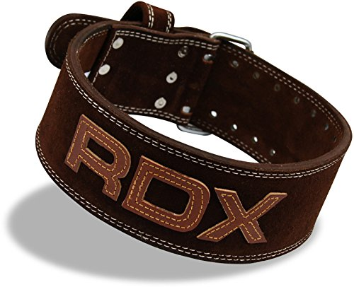Rdx Cow Hide Leather Gym Weight Lifting Belt Training