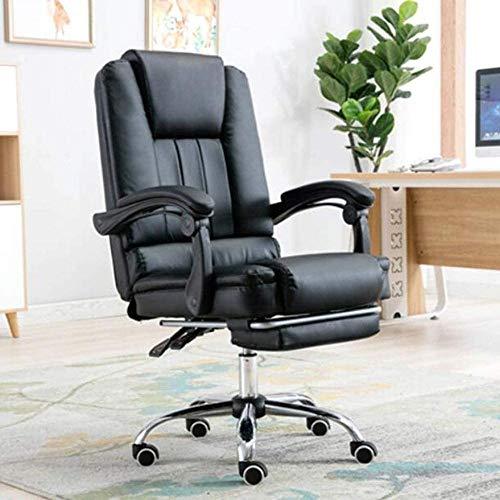 Skrivbordsstolar, kontorsstol spelstol ergonomisk hög rygg dator skrivbord stol justerbar vridbar uppgift stol infällbar fotstöd knästol