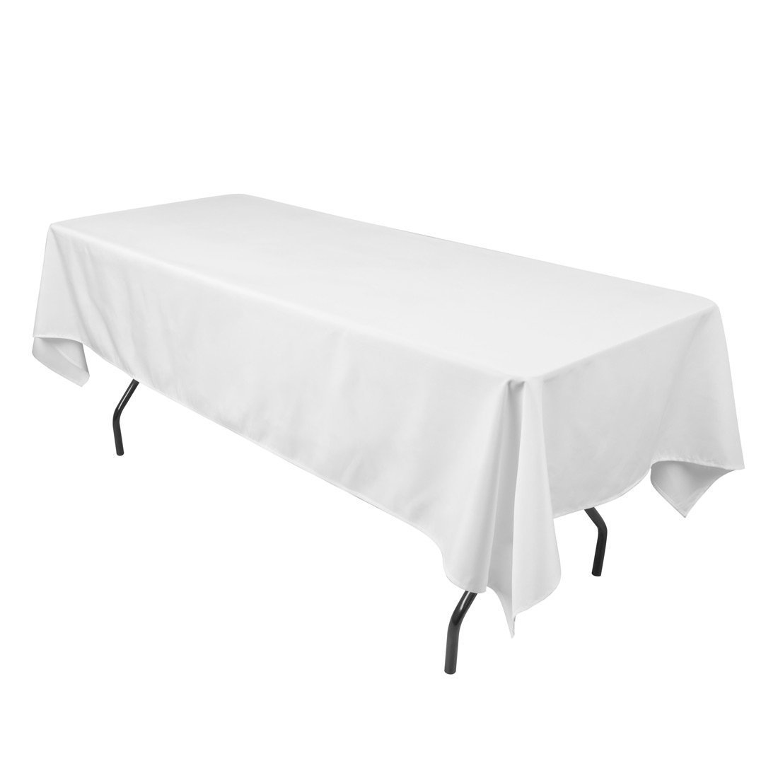 "Craft and Party - 10 pcs Rectangular Tablecloth for Home, Party, Wedding or Restaurant Use (60"" X 102"", White)"