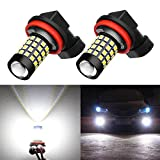 Alla Lighting 1000 Lumens High Power 2835 51-SMD Super Extremely Bright 6000K White H11LL H8LL H11 H8 H16 LED Bulbs for Fog Light Lamps Replacement