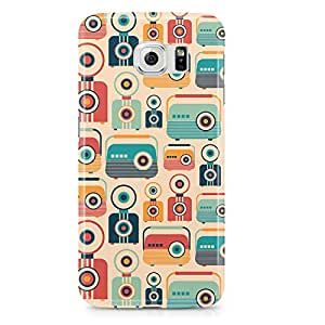 Samsung Galaxy S6 Edge Case Retro Pattern Vintage Jukebox-Light Weight Clear Edges Wrap Around Phone Cover