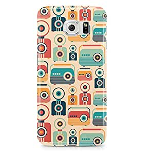 Samsung S6 Case Retro Pattern Vintage Jukebox-Light Weight Clear Edges Wrap Around Phone Cover