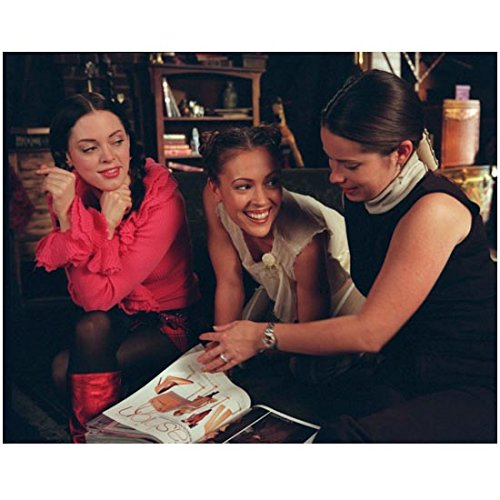 Charmed Rose McGowan, Holly Marie Combs, Alyssa Milano Looking at Magazine 8 x 10 Inch Photo ()