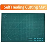 GKS Professional Self-Healing Double Sided Rotary Cutting Mat, Long Lasting Thick Non-Slip Mat for Quilting, Sewing and All Arts & Crafts Projects (Green, A3)