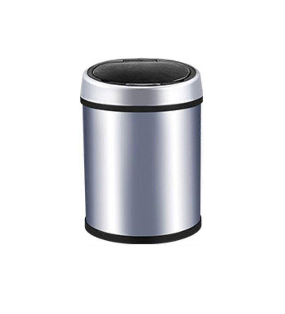 GHGJU Smart Mülleimer Badezimmer Kreative Automatische Edelstahl Mülleimer Induktion Mülleimer Silber (größe   9L) B07FXJ718V   Niedriger Preis und gute Qualität