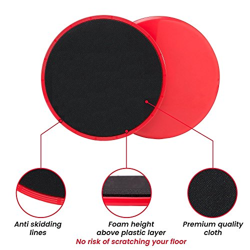 upc 653437418445 product image for HAPYH 2 Pack Gliding Discs Core Sliders - Gliding Discs Dual Sided for Use On Carpet Or Hardwood Floors for Abdominal Exercise