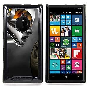 For Nokia Lumia 830 - Robot Abstract Woman Dise???¡Ào Protecci????n Cubierta de la caja ultra delgada de Snap de pl????stico duroco duro - God Garden -