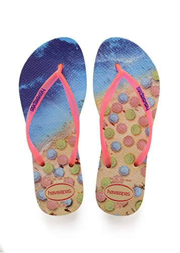 Havaianas ivory Slim Infradito Paisage Donna Beige rqwxrY6F0