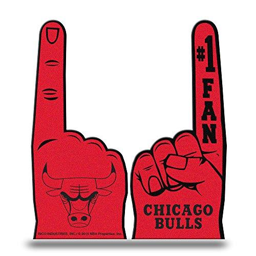 - Rico Industries NBA Chicago Bulls #1 Fan Flat Foam Finger