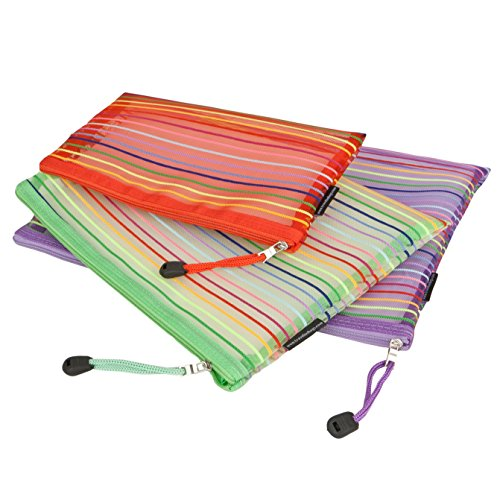 Travelon Set of 3 mesh Pouches, Multicolor, One Size