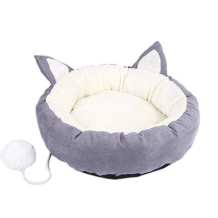 TianBin Perro y Gato Caliente Suave Camas Redonda o de Forma Oval Sofa Mat Perro Cueva