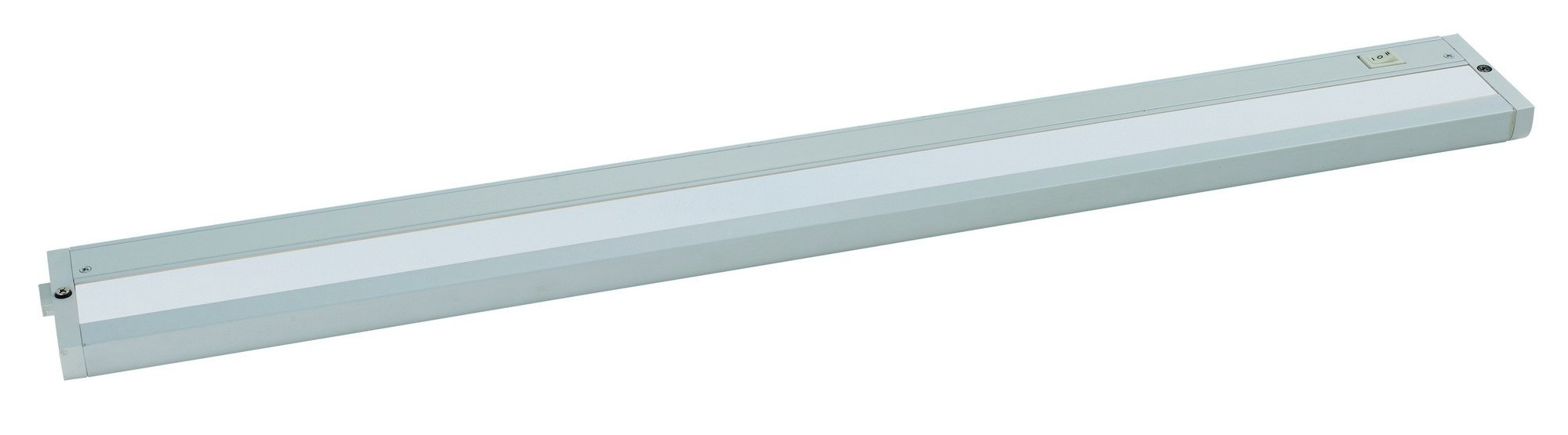 Maxim 89986WT CounterMax MX-L-120-2K 30'' 2700K or 3200K LED UC, White Finish, Glass, PCB LED Bulb , 60W Max., Dry Safety Rating, Standard Dimmable, Shade Material, Rated Lumens