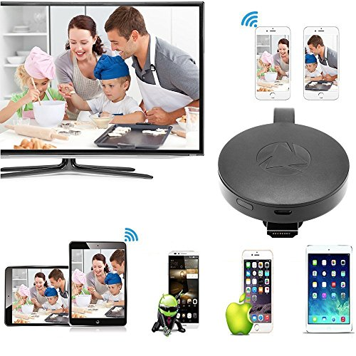 WiFi Display Dongle Wireless Mini Display Receiver Mirror Dongle HDMI Adapter TV Miracast DLNA Airplay for iOS iPhone iPad Android Device Smartphone Macbook by XMBest (Image #4)