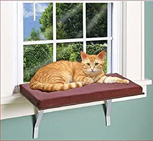 DELUXE PLUSH CAT WINDOW SEAT PERCH Amazon Pet Supplies