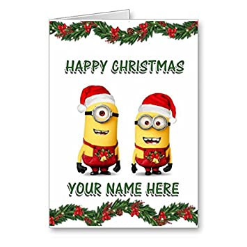 d2ef8b564732e despicable me 2 - minions christmas card personalised  Amazon.co.uk   Kitchen   Home