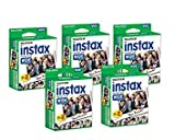 Fujifilm Instax Wide Film for Fuji Instant Film Camera, 5 Pack Twin Pack of Instax Films(total 100 Sheets)