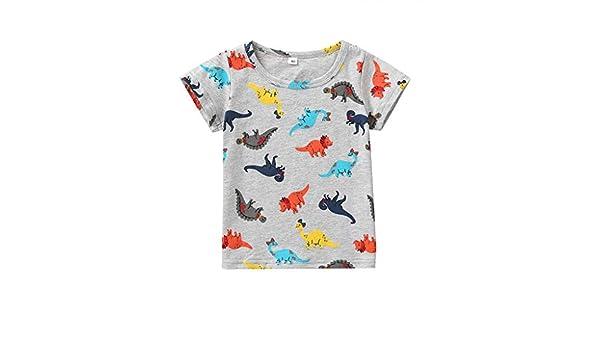 Amazon.com: Iuhan Boys Shirts Summer Baby Kids Cartoon Dinosaur ...