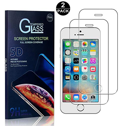 iPhone SE / 5S / 5 Screen Protector, Bear Village Tempered Glass Screen Protector, HD Screen Protector Glass for iPhone SE / 5S / 5-2 Pack
