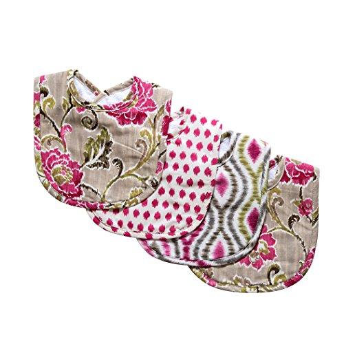 Trend Lab Waverly Jazzberry Bouquet 4 Piece Bib ()