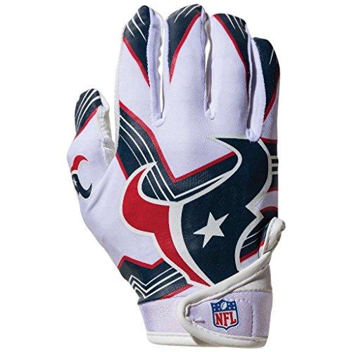 NFL Houston Texans Youth Receiver Gloves,White,Medium