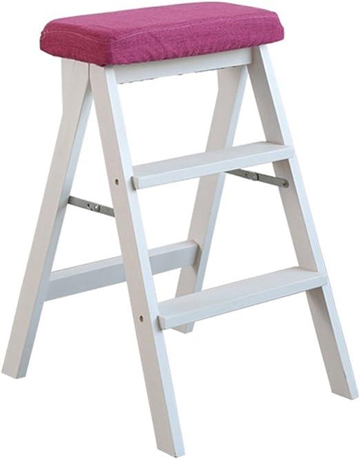 Zcxbhd Escalera Taburete Sólido Madera Pequeña Taburete Plegable Taburete Plegable 3 Paso Escalera para Casa (Color : C): Amazon.es: Hogar