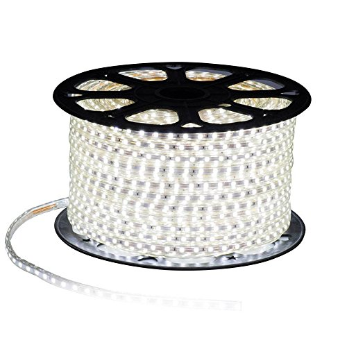 MODOAO 16.4ft/5M Flexible Light Strip,300 LED TV Backlight Strip 110V Waterproof SMD 5050,DIY Christmas Holiday Home Kitchen Car Bar Indoor Party Decoration with Power Plug