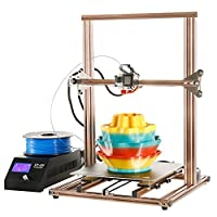 "3D Printer,Prusa i3 DIY Aluminum Frame Kit,Large Printing Size 11.8"" x 11.8"" x 15.8"" with Heated Bed, Dual Z Axis"