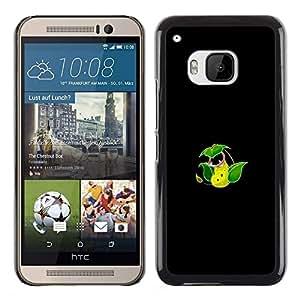 YiPhone /// Prima de resorte delgada de la cubierta del caso de Shell Armor - Meter Monstruo Verde Eater Flor - HTC One M9