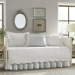 Stone Cottage 216674 Trellis White 5Piece Daybed Set,White