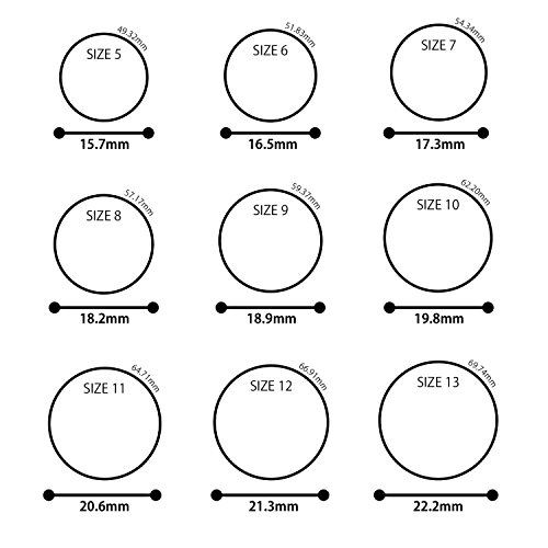 ThunderFit Silicone Wedding Band / Engagement Ring - 3 Rings Pack - 8.7mm Wide (2mm Thick) - Middle Line (10)