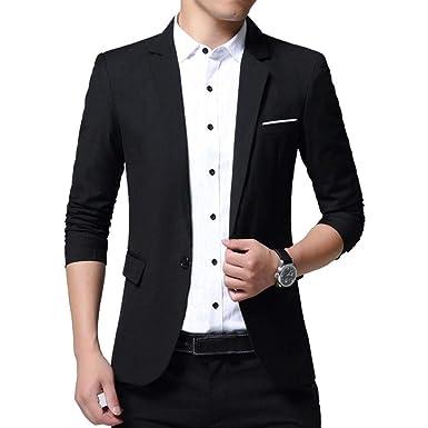 Amazon.com: Chaqueta deportiva para hombre, ajustada, casual ...