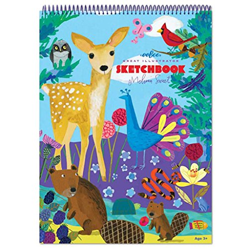 eeBoo Sketch Book Drawing Pad, Life on Earth
