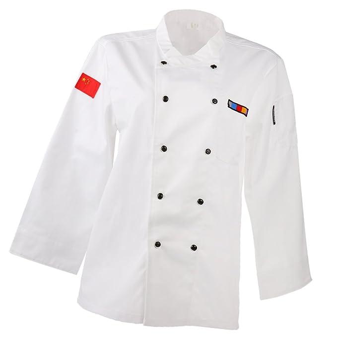 Fenteer Top Cappotto Giacche Uniformi Abbigliamento da Lavoro Ristorazione  Giacca per Chef Cuoco  Amazon.it  Abbigliamento 941975382405