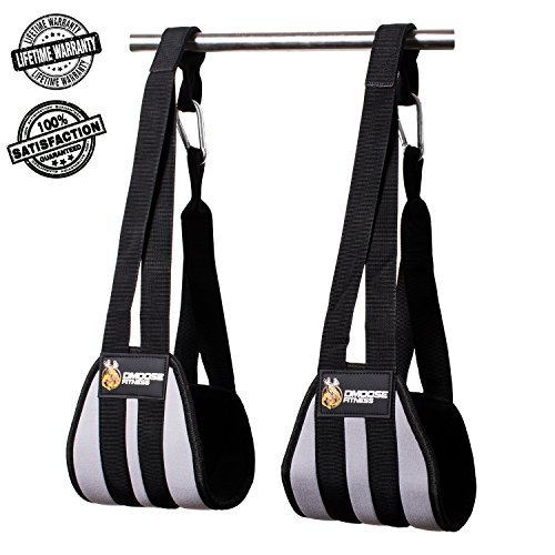 Ab Straps by DMoose Fitness - Six Pack Home Gym Exerciser - Double Strap Support and Stitching, Rip-Resistant Fabric, Longer & Thick Arm Padding - Premium Grade Abs Workout Equipment for Men & Women
