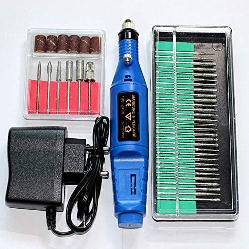 Mini juego de taladro eléctrico para manicura de uñas, kit de herramientas de pedicura, herramienta de extracción de gel, garra de mascota, jade, tallado, limas de uñas: Amazon.es: Bricolaje y herramientas