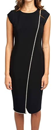Dress for Women, Evening Cocktail Party On Sale, Black, polyester, 2017, 10 14 16 Joseph Ribkoff