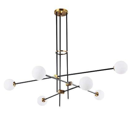 Chandeliers 2018led Chandelier Post Modern Minimalist Creative Restaurant Magic Bean Living Room Glass Ring Sphere Molecular Chandelier
