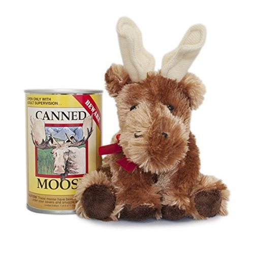 Canned Critters Stuffed Animal: Moose 6