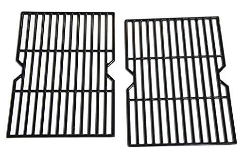 Hongso Porcelain Coated Cast Iron Cooking Grid Grate Replacement Parts for Grill Master 720-0737, Grill Chef, Nexgrill Gas Grill Models, 17 1/8 x 24 7/8 inches BBQ Grill Grates, Set of 2 (PCF162) (Parts For Master Forge Grill)