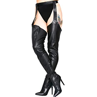 92246a64040bb Amazon.com | Themost Thigh High Boot, Women's Black Over Knee Long ...