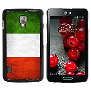 Paccase / SLIM PC / Aliminium Casa Carcasa Funda Case Cover - National Flag Nation Country Italy - LG Optimus L7 II P710 / L7X P714