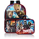 Marvel Boys' Guardians of the Galaxy Backpack with Lunch Window Pocket, Blue