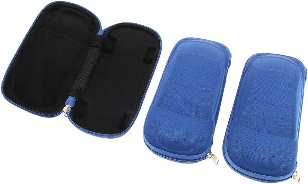 Fenteer 3er Set Elegantes Brillenetui Hardcase Hartschale Brillen-box in Auto Form