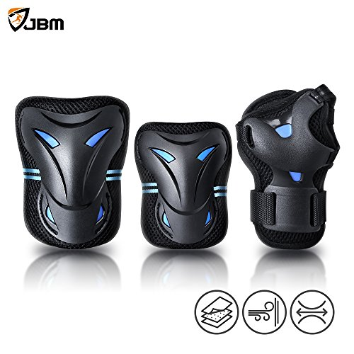 JBM Multi Sport Protective Gear Knee Pads and Elbow Pads wit