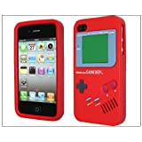New Red Gameboy Style Silicone Case Cover for iPhone 4 4G 4S