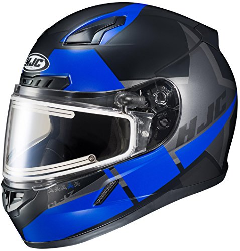 (HJC CL-17 Boost Snowmobile Helmet with Dual Lens Shield (MC-2SF, Large) XF-10-1151-2532-06)