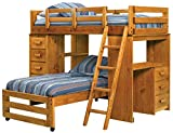 Twin Over Twin Loft Bed with Desk End 680070