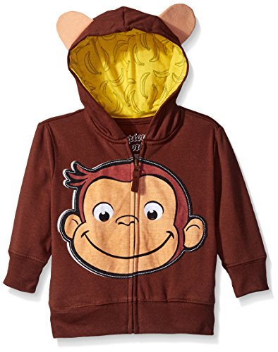 Curious George Little Boys' Toddler Character Hoodie, Brown/Yellow, -